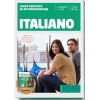 CURSO PONS ITALIANO, 2 LIBROS + 4CD + DVD